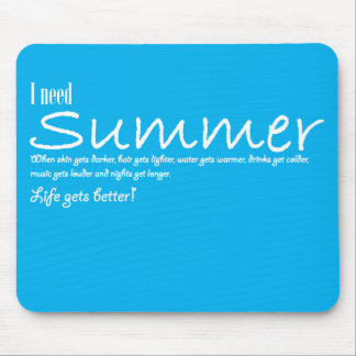 I have summer necessary mousepad violent blue