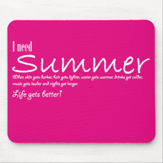 I have summer necessary mousepad violent pink