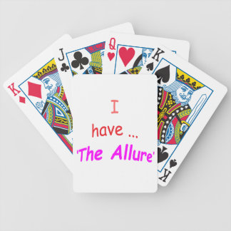 I Have the Allure Playing Cards