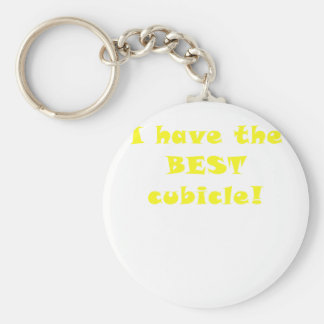 I Have the Best Cubicle Basic Round Button Keychain