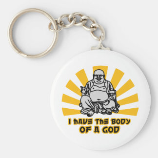 i have the body of a god keychain