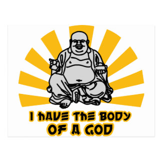 i have the body of a god postcard