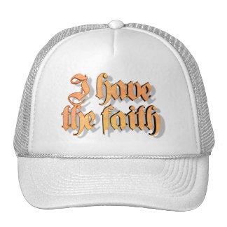 I have the faith Orange 3D Mesh Hat