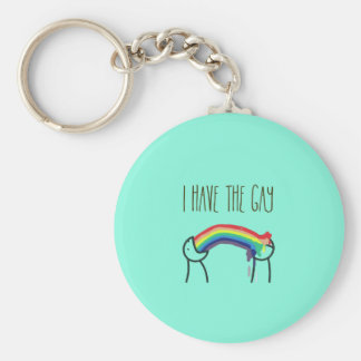 I have the gay meme basic round button keychain