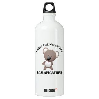 I Have The Necessary Koalafications Aluminum Water Bottle
