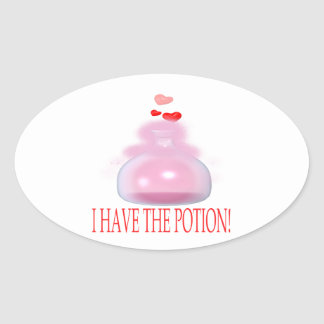 I Have The Potion Oval Sticker