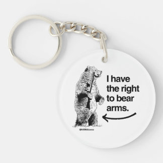I HAVE THE RIGHT TO BARE ARMS Double-Sided ROUND ACRYLIC KEYCHAIN