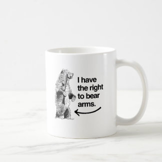 I HAVE THE RIGHT TO BEAR ARMS CLASSIC WHITE COFFEE MUG