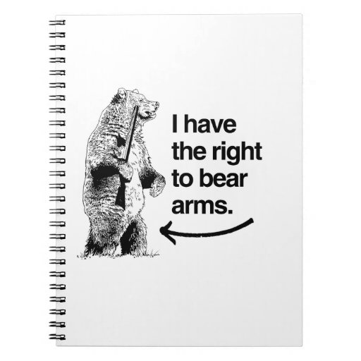 I HAVE THE RIGHT TO BEAR ARMS NOTEBOOK