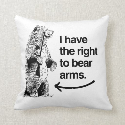 I HAVE THE RIGHT TO BEAR ARMS PILLOW