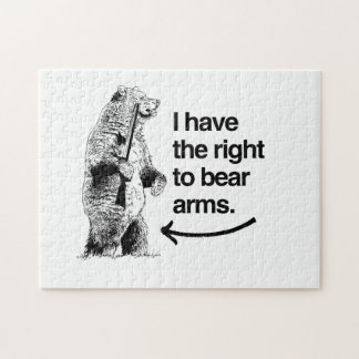 I HAVE THE RIGHT TO BEAR ARMS JIGSAW PUZZLES