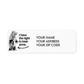 I HAVE THE RIGHT TO BEAR ARMS RETURN ADDRESS LABEL
