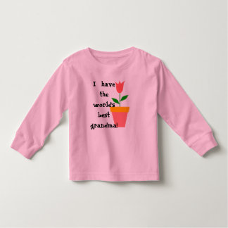 """I have the world's best grandma"" Toddler shirt"