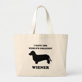 I have the world's greatest wiener jumbo tote bag
