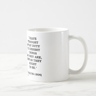 I Have Thought It My Duty To Exhibit Things Quote Coffee Mug