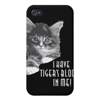I Have Tiger's Blood In Me! b&w Cover For iPhone 4