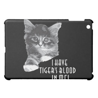 I Have Tiger's Blood In Me! b&w Cover For The iPad Mini