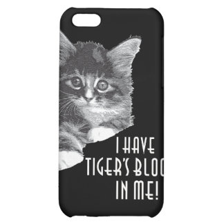 I Have Tiger's Blood In Me! b&w Cover For iPhone 5C