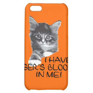 I Have Tiger's Blood In Me black & white2 iPhone 5C Cover