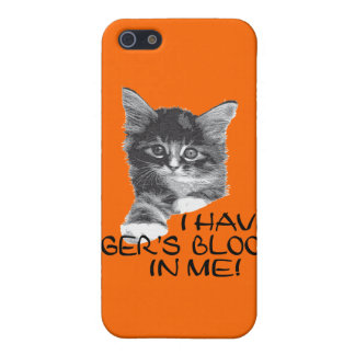 I Have Tiger's Blood In Me black & white2 iPhone 5 Cover
