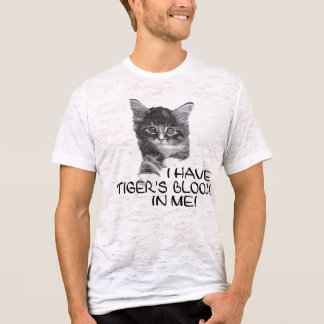 I Have Tiger's Blood In Me black & white2 T-Shirt