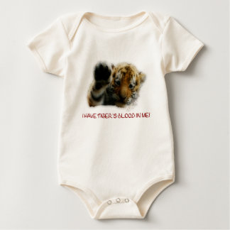I Have Tiger's Blood In Me(Cub) #1 Baby Bodysuit
