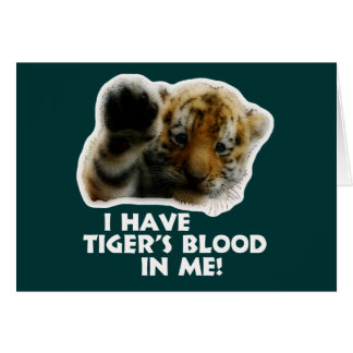 I Have Tiger's Blood In Me(Cub) #2 Card