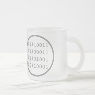 I have written a computer program that I use Frosted Glass Coffee Mug