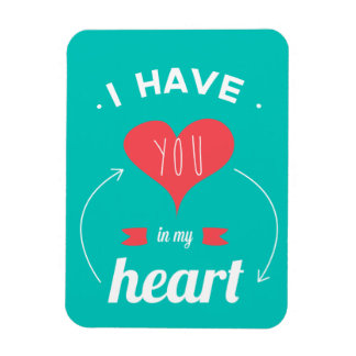 I have you in my heart Valentines day retro design Rectangular Photo Magnet