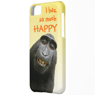 I Haz So Much Happy Cute Funny Ape Cover For iPhone 5C