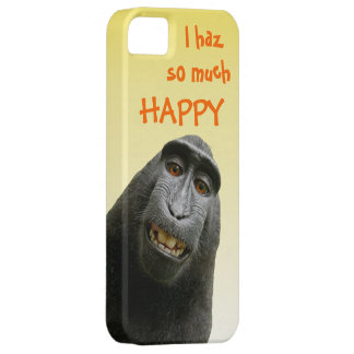 I Haz So Much Happy Cute Funny Ape iPhone 5 Cases