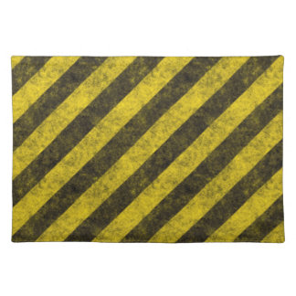 i hazard stripes copy2 cloth placemat