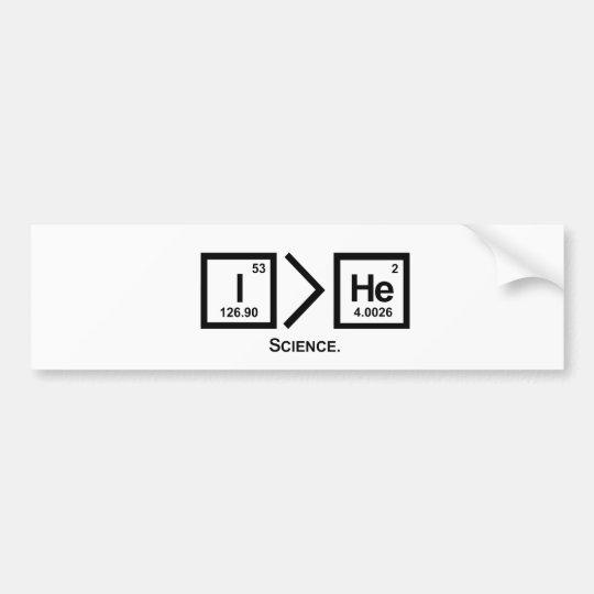 I > He Bumper Sticker