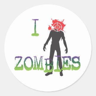 I Headshot Zombies Classic Round Sticker