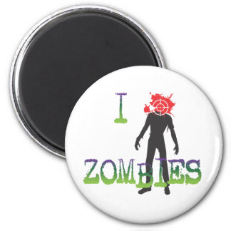 I Headshot Zombies 2 Inch Round Magnet