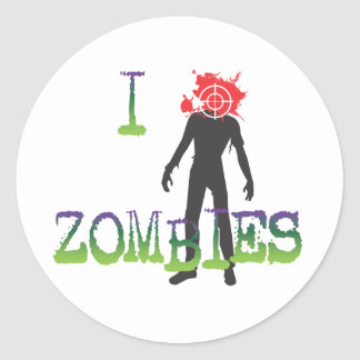 I Headshot Zombies Round Stickers