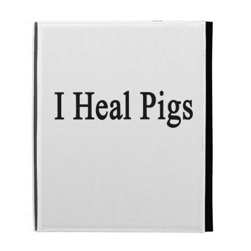 I Heal Pigs iPad Folio Cover