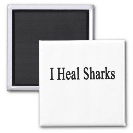 I Heal Sharks 2 Inch Square Magnet