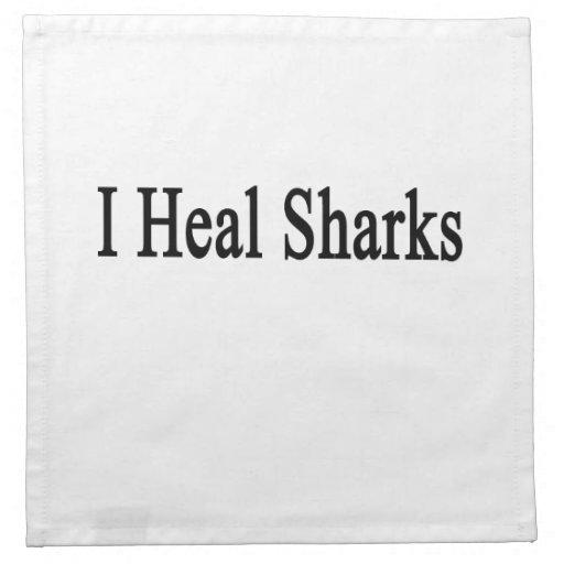 I Heal Sharks Cloth Napkin