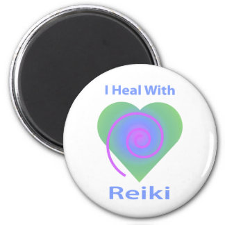 I Heal with Reiki 2 Inch Round Magnet
