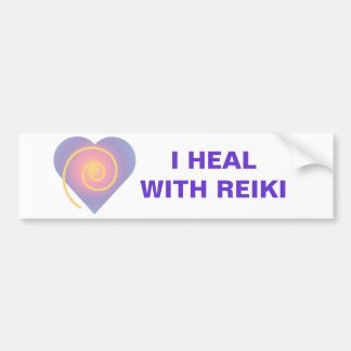 I Heal With Reiki Bumper Sticker
