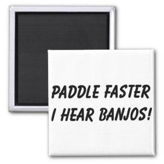 I HEAR BANJOS! 2 INCH SQUARE MAGNET