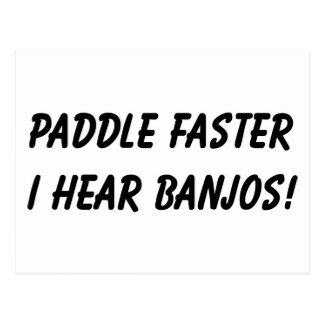 I HEAR BANJOS! POSTCARD
