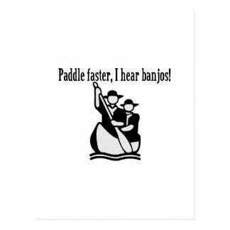 I Hear Banjos Postcard