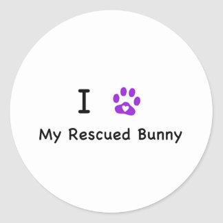 I Hear My Rescued tBunny Classic Round Sticker