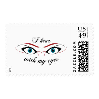 I hear with my eyes O stamp $0.49 (1st Class 1oz)