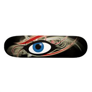 """I hear with my eyes"" skateboard logo #1"