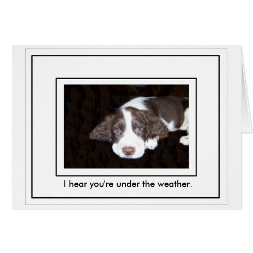I Hear You're Under The Weather Stationery Note Card