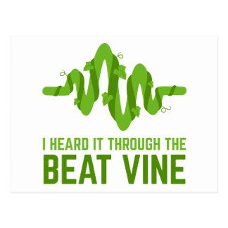 I Heard It Through The Beat Vine Postcard