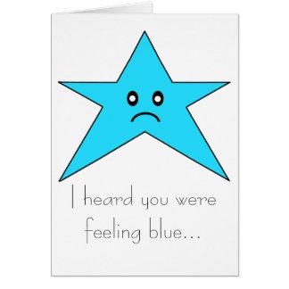 I heard you were feeling blue... card